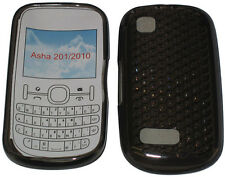 Pattern Gel Case Cover Protector Pouch For Nokia Asha 201 / 2010 Black New UK