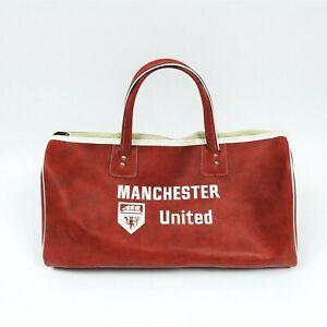 Vintage Retro Manchester Utd Man U travel kit bag weekend bag rare