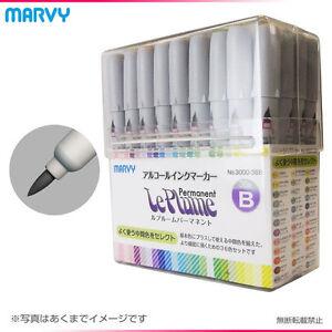New pen marvy Rupurumu 36 plus set 3000-36B alcohol ink marker art F / S