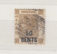 Hong Kong QV 1885 50c on 48c SG41 VFU J7846