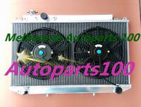 For Toyota Cressida MX83 radiator & Fans 1989-1993 manual only Aluminum