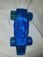 Vtg Avon Cobalt Blue Glass Winner Indy Race Car Wild Country Aftershave Bottle