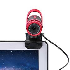 USB2.0 360 Degree Webcam Web Camera HD 50MP with MIC Clip-on for PC Laptops New