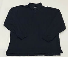 5.11 Tactical - Men's Navy Blue Long Sleeve 1/4 Button Shirt (XL) Big Size