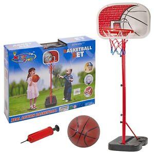 Free Standing King Sport Kids Basketball Hoop Net Set Backboard Stand Children