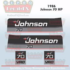1986 Johnson 70 HP Sea-Horse Outboard Reproduction 6 Pc Marine Vinyl Decals
