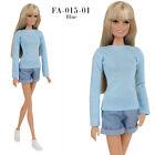 FA 015-01 blue longsleeve T-shirt for Barbie MTM Pivotal Poppy Parker 12''dolls
