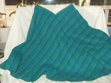 New Skaters skirt turquoise stripe100% wool fabric Waist 24 inch 20 inch Length