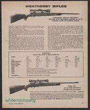 1975 WEATHERBY Vanguard and Mark XXII Rifle shown w/ scope PRINT AD
