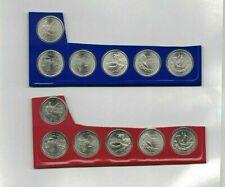 2009 UNC P & D DC Territories quarters 12 coins SATIN FINISH US MINT SET sealed