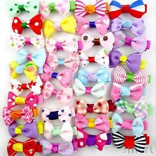 50pcs Assorted Hair Clips Snaps Ribbon Bow Girls Kids Baby Handmade Wholesale