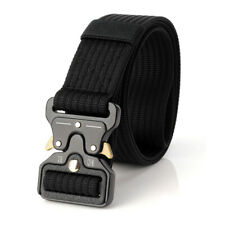 3.8CM Black Mens Tactical Nylon Belt Outdoor Army Quick Release Heavy Duty Belts