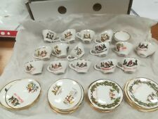 CAVERSWALL - 16 Nr Christmas miniature cups & saucers 1977 to 1992 complete