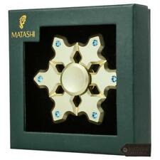 24k Gold Plated Snowflake Spinner Ornament Hanging Decoration w/Matashi Crystals