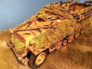1/18 Hanomag SDKFZ German WW II Halftrack with Enhanced Camo 21st Century Toys