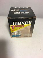 "Maxell MF 2 HD 3.5"" High Density Floppy Discs 30 Pack IBM Formatted Computer"