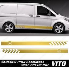 Mercedes-Benz Vito /& Viano  Seitenstreifen Checkerflag Aufkleber Set # 14