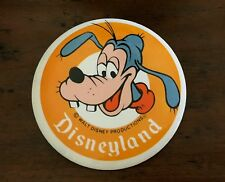 "Vintage Disneyland Goofy Button Pin Back Large 3.5"" Walt Disney Production"