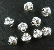 30 Tibetan Silver Nice Bicone Spacer Beads Jewelry DIY 7x6.5mm 1152