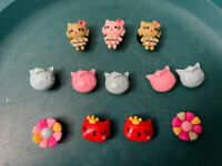 3D Hello Kitty Lot Of 12 Shoe,bracelet,lace Adspter Charms, Does Fit Brand Crocs