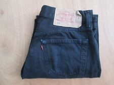 "Men's levi`s 501 Negro Jeans W33"" L32"" Red Tab pierna recta Genuino Excelente"