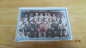 1980 Topps Team Pin-Up - Celtics
