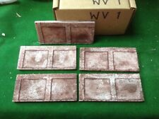 N scale fine detail brick wall kit - 5 pcs - Painted & Weathered