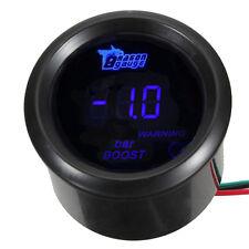 """2"""" 52mm Black Car Motor Digital Blue LED Bar Turbo Boost LED Gauge Meter"""