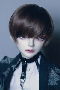 "Free shipping BJD Doll Hair Wig 8-9""1/3 SD DZ DOD LUTS dark Brown short wig"