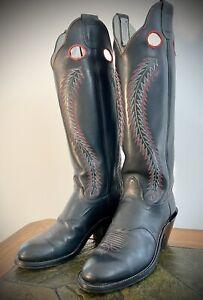 "Mens OLATHE 18"" tall Buckaroo Riding Cowboy boots, 6424Z size 9.5 D"