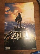 Zelda Breath Of The Wild  2 Sided Poster 2017 (GameStop Launch) rare