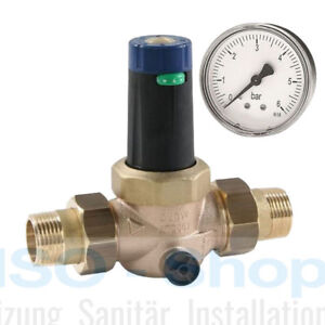 """SYR Druckminderer 315 inkl. Manometer DN 25 Trinkwasser 1"""" Druckregler PN25"""