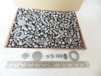 JOB LOT: One kilo (1 kg)  of Grey/Silver Acrylic Beads - many shapes/sizes