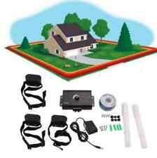 Underground Electric Dog Fence System Waterproof Shock Collars For 3 Dogs New