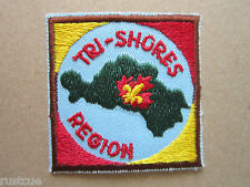 Tri Shores Region Canada Canadian Boy Scouts Scouting Woven Cloth Patch Badge