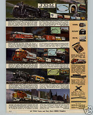 1970 PAPER AD 2 PG Tyco Toy Electric Train Sets HO Gauge Marx 027 Steam Freight