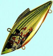 New listing Bill Lewis Rat-L-Trap 1/2 oz. Gold Bleeding Shad 3-inch Lipless Fishing Lure