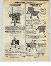 1937 PAPER AD Blue Grass Belknap Hand Power American Wood Washing Machine