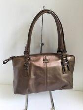 Coach Madison Bronze Leather Bag Small Satchel Purse F45918 B2C