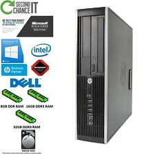 HP Elite Desktop 8100/8200/8300 i5/i7 - 8GB/16GB/32GB - SFF- Win 7/10 - 500GB