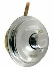Pulsante cromato CATIS per cassetta scarico WC con tubetto rame