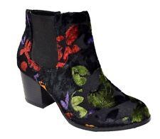 TS shoes TAKING SHAPE sz 37 / 6 Quaid Ankle Boots velvet print leather NIB! $180