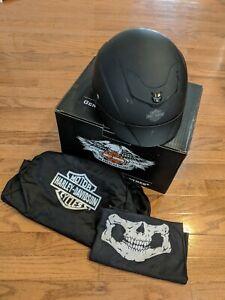 Harley-Davidson Half Helmet Matte Black Asphalt 98209 -13VM/000S Small