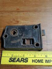 Antique Mortise Door Lock with a Slide Dead Bolt- Vintage Hardware