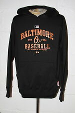 EUC Majestic Therma Base Baltimore Orioles Hooded Hoodie Sweatshirt Sz M