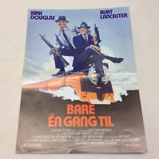 Tough Guys Kirk Douglas Burt Lancaster Durning 1986 Danish Movie Press Release