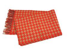 Hugo BOSS Lightweight Wool tasseled scarf Orange/Cream