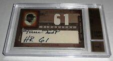 2005 Biography WILLIE MAYS HR Autograph Game Used Worn Jersey Auto BGS 9.5 GEM