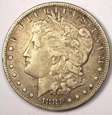 1881-CC Morgan Silver Dollar $1 - XF Details (EF) - Rare Carson City Coin!