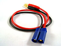 EC5 Male Charging Connector to 4mm Banana Plug Cable LiPo Battery - US Seller F2